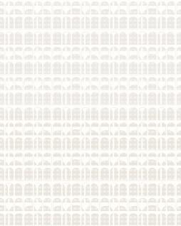 Grafik Tapete Profhome VD219156-DI heißgeprägte Vliestapete geprägt mit geometrischen Formen glänzend creme 5, 33 m2