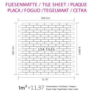 Mosaik Fliese massiv Metall Titan gebürstet in kupfer 1, 6mm stark ALLOY PK-Ti-AB 0, 88 m2 - Vorschau 4