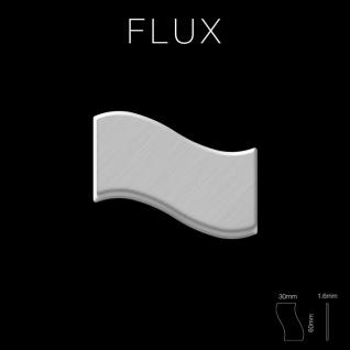 Mosaik Fliese massiv Metall Edelstahl gebürstet in grau 1, 6mm stark ALLOY Flux-S-S-B Designed by Karim Rashid 0, 86 m2 - Vorschau 2
