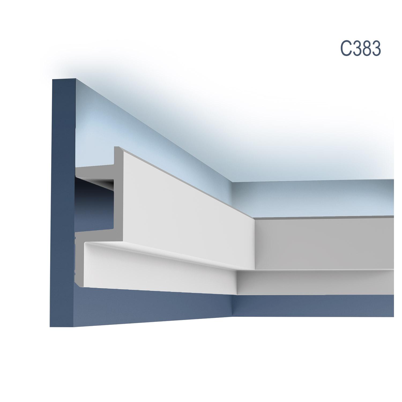 eckleiste orac decor c383 modern l3 indirekte beleuchtung zierleiste modernes design weiss 2m 1