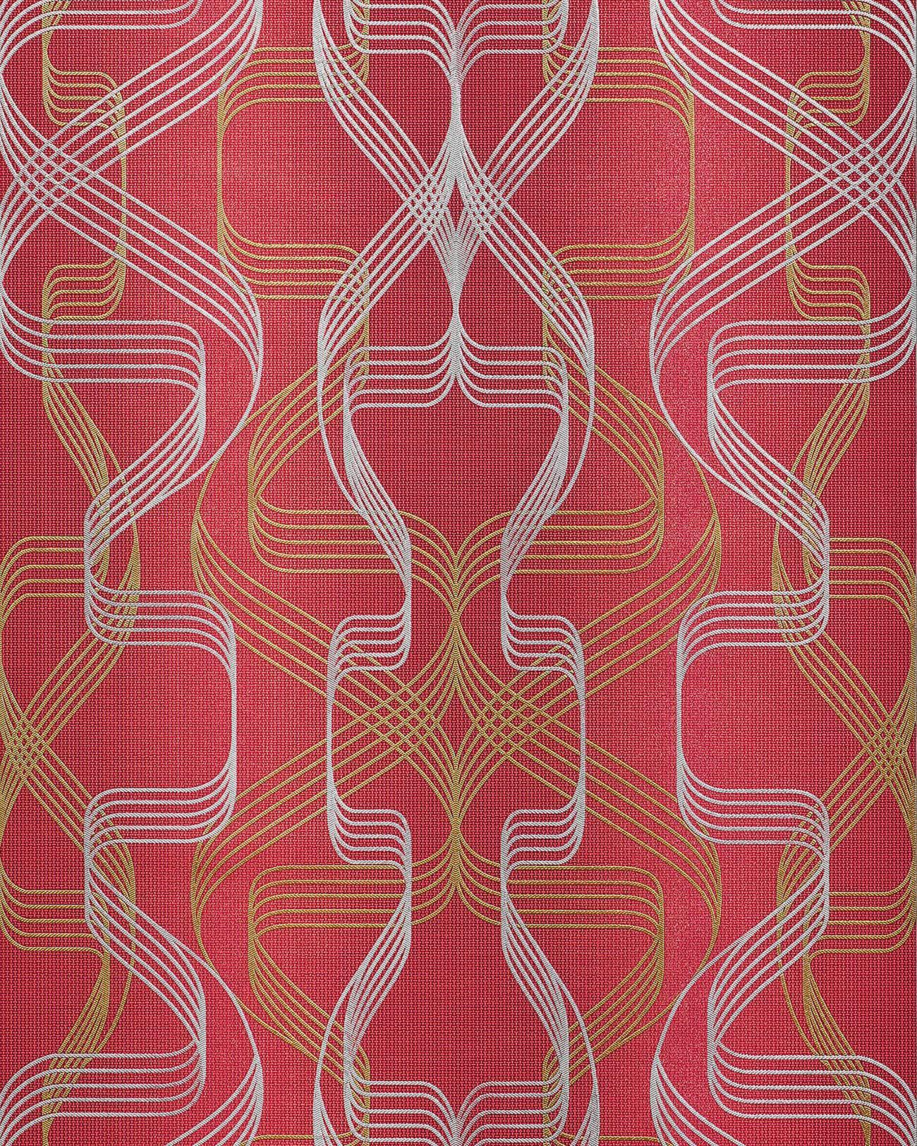 grafik tapete edem 507 24 designer tapete strukturiert mit abstraktem muster und metallischen akzenten - Tapete Rot Muster