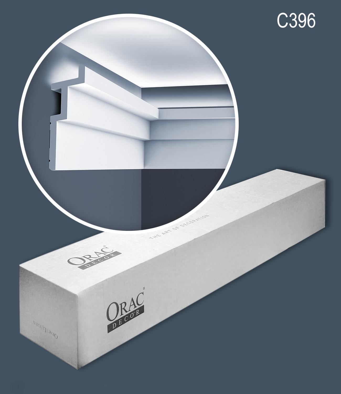 Eckleiste Orac Decor C395 MODERN STEPS Eckleiste f/ür Indirekte Beleuchtung Zierleiste Stuckleiste modernes Design wei/ß 2 m