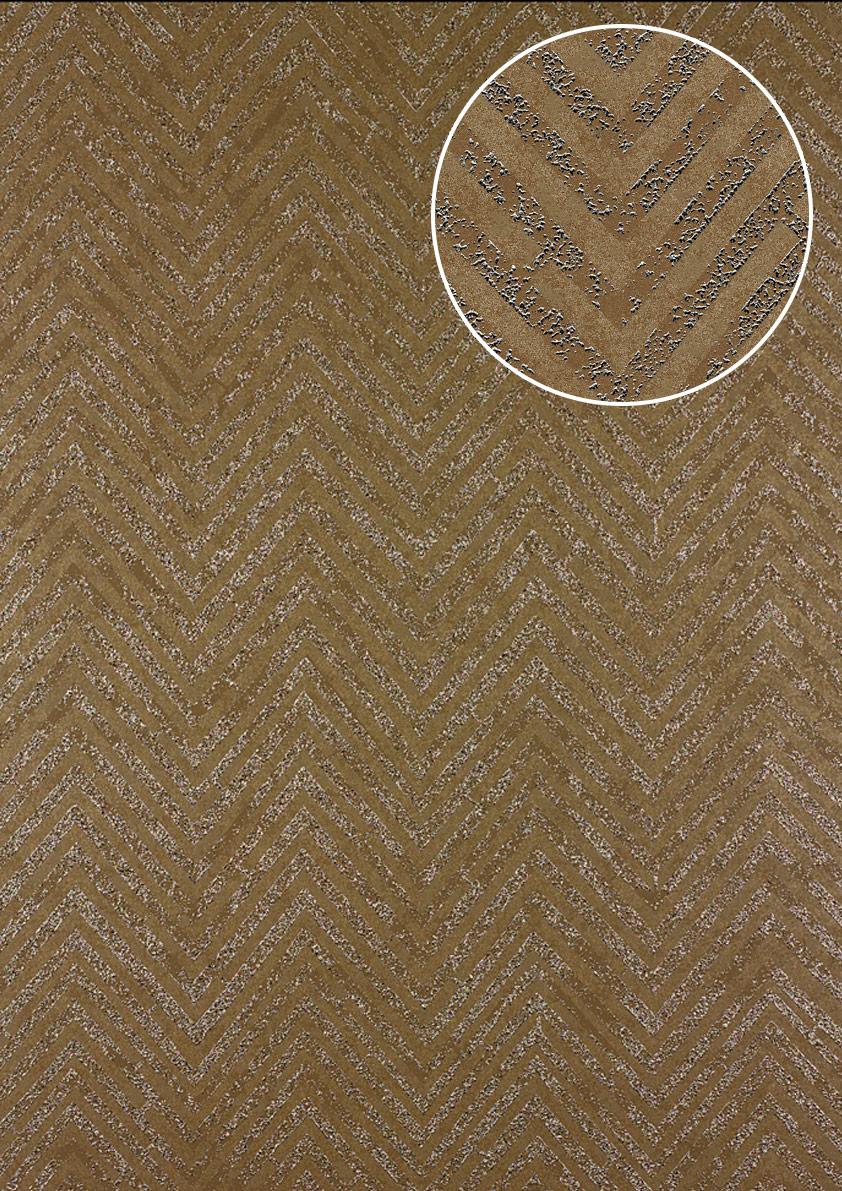 Streifen Tapete Atlas 24C 5055 2 Vliestapete Strukturiert Mit Chevron Muster  Und Metallischen Akzenten ...