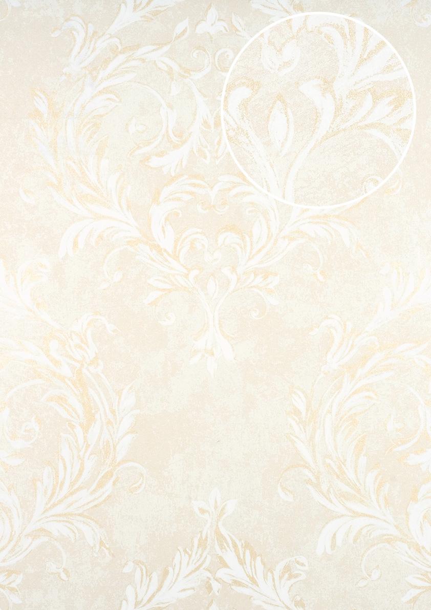 Barock Tapete Atlas Cla 603 2 Vliestapete Gepragt Mit Ornamenten
