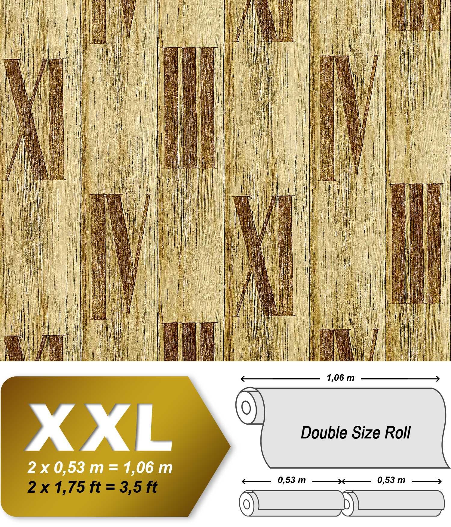 Holz Tapete Vliestapete EDEM 945 22 Hochwertige Tapete In Holzoptik  Holzdielen Römische Zahlen Deko Grün ...