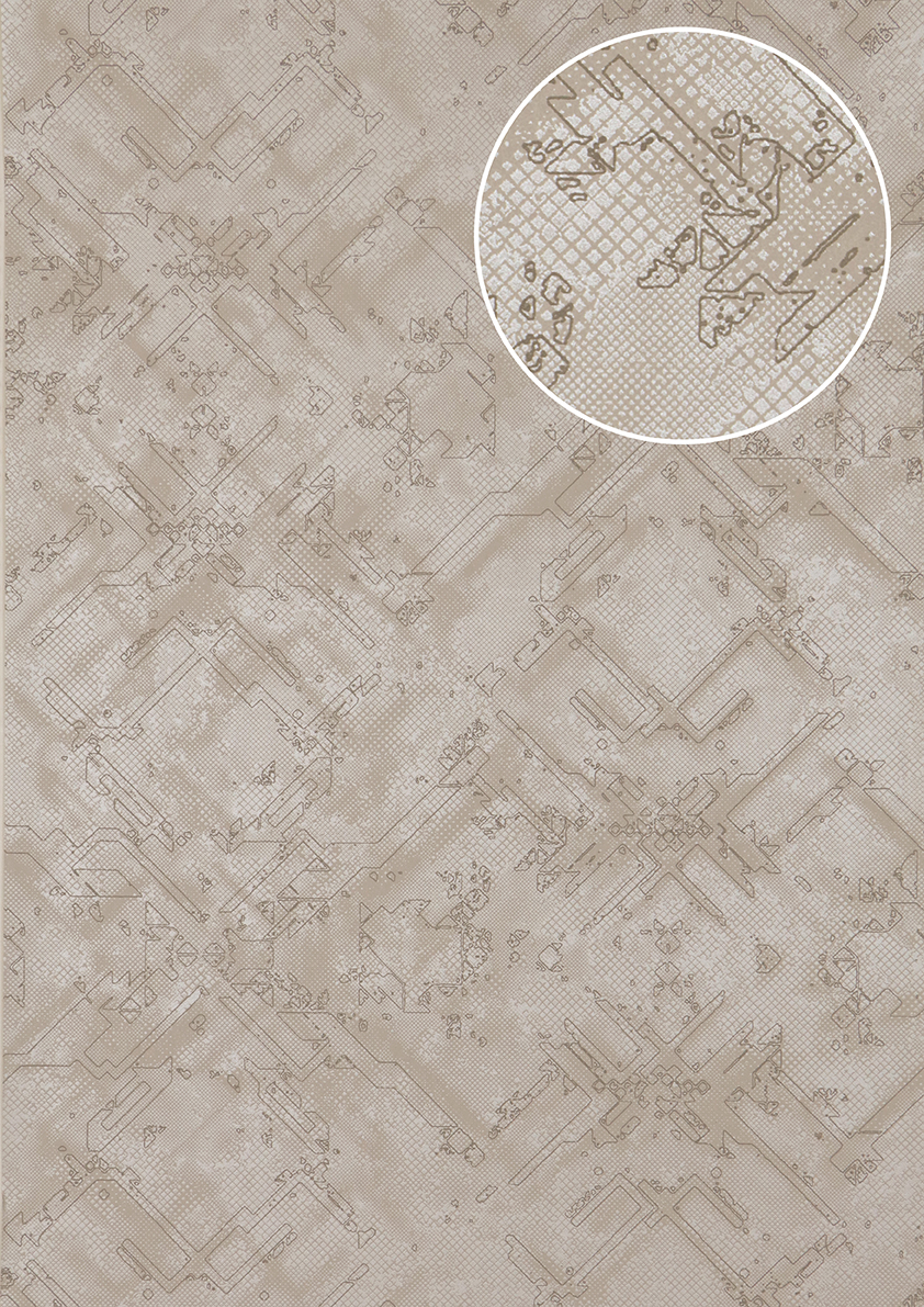grafik tapete atlas sig 085 5 vliestapete strukturiert mit. Black Bedroom Furniture Sets. Home Design Ideas