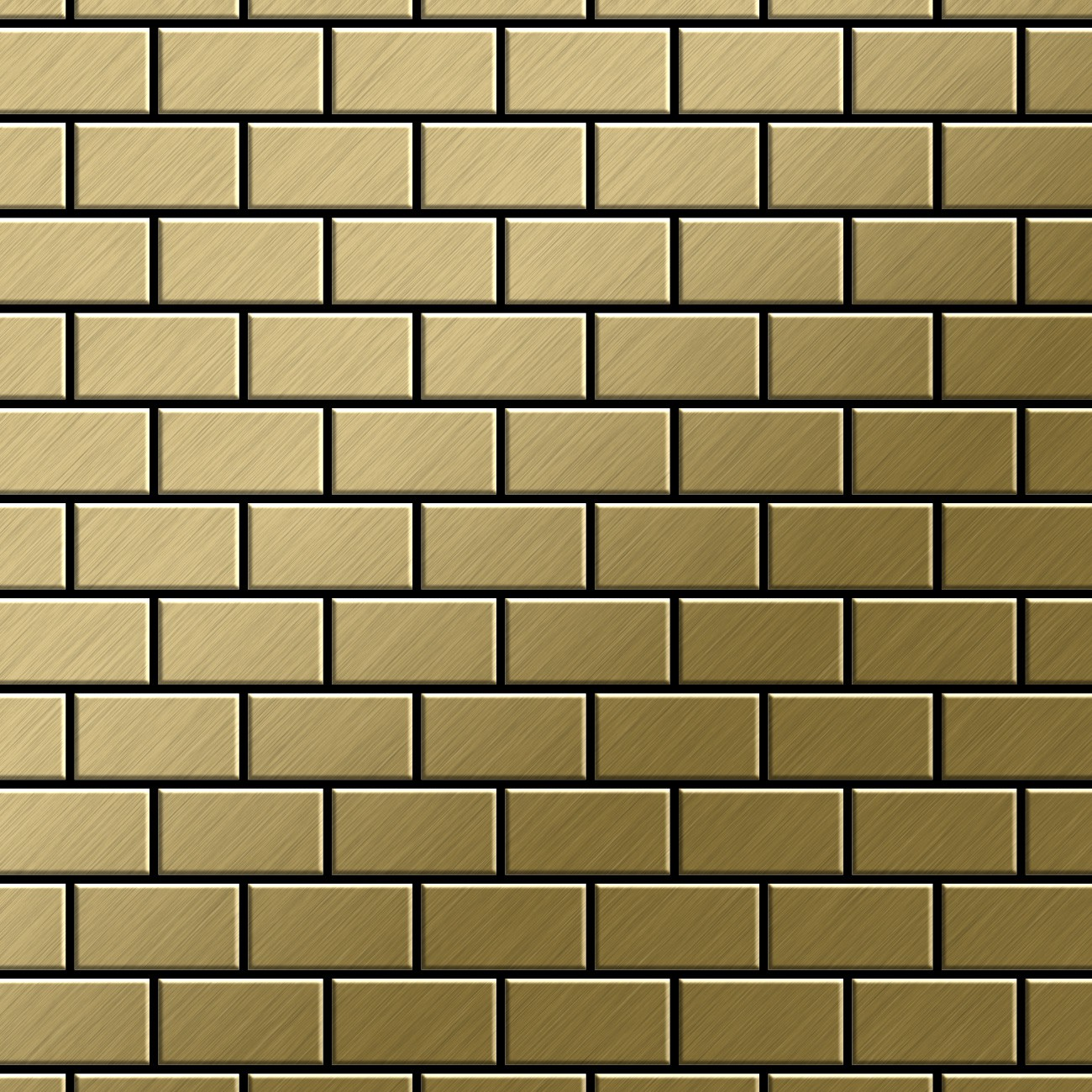 Mosaik Fliese Massiv Metall Titan Geburstet In Gold 1 6mm Stark