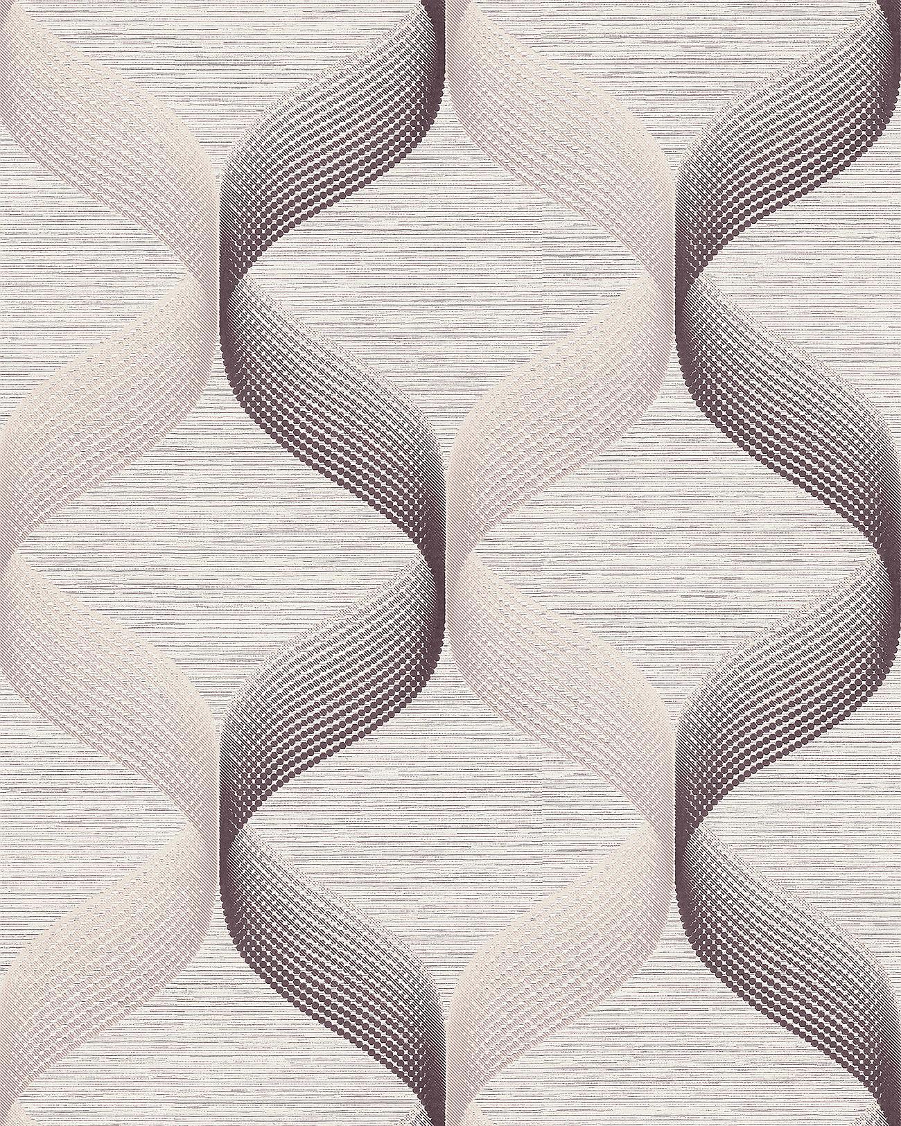Retro Tapete EDEM 1034 14 Vinyltapete Strukturiert Mit Grafischem Muster  Glitzernd Creme Beige Braun 5 ...