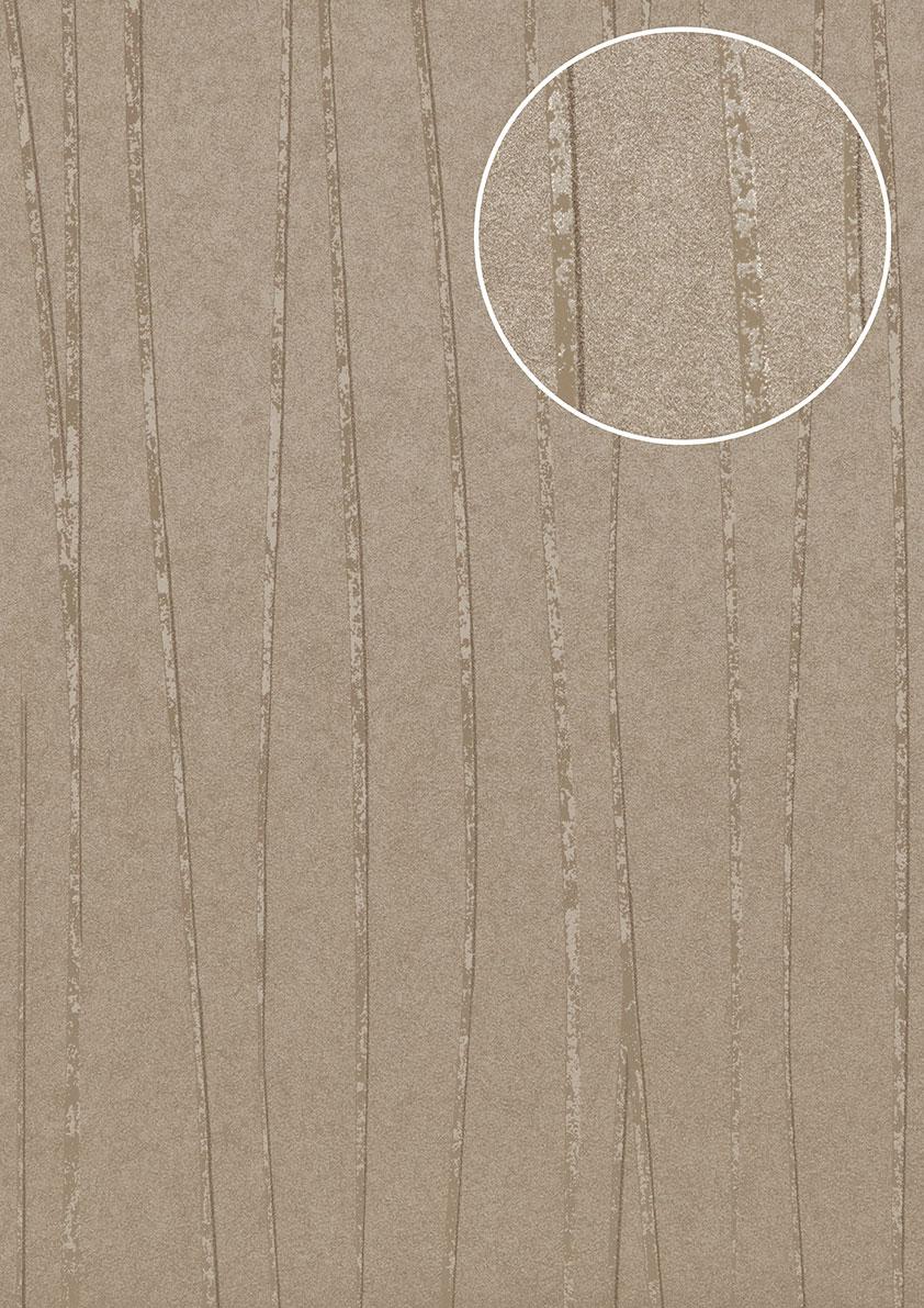 Edle Streifen Tapete Atlas Col 568 0 Vliestapete Glatt Design