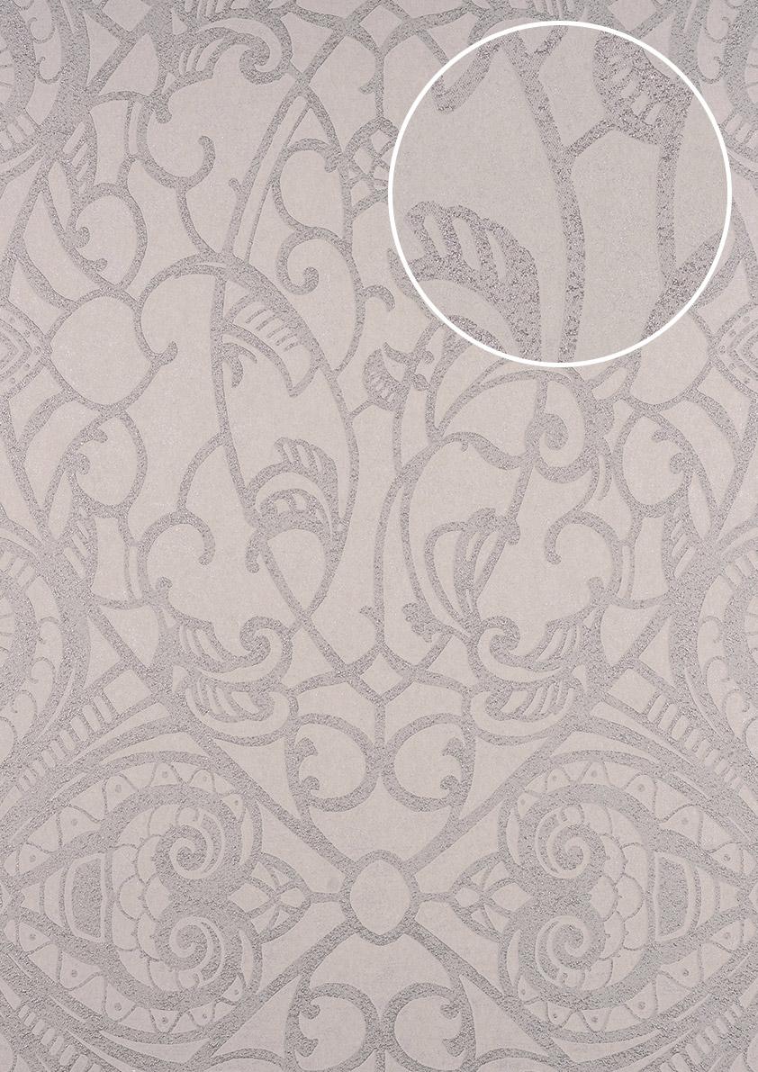 Barock Tapete ATLAS CLA-597-7 Vliestapete geprägt mit grafischem ...