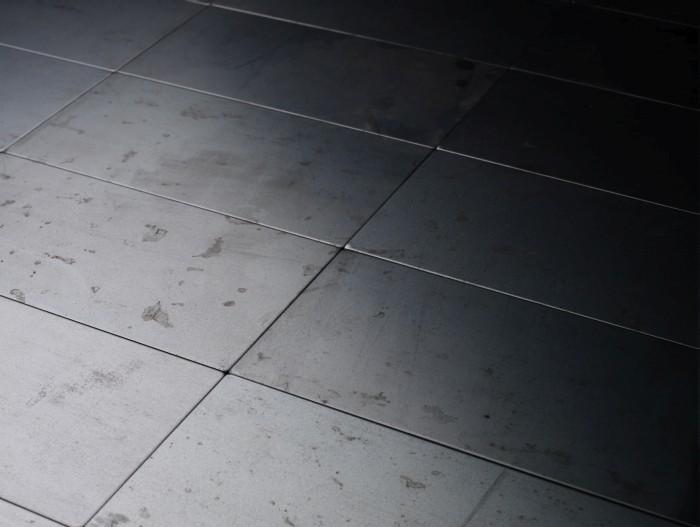 Mosaik Fliese Massiv Metall Rohstahl Gewalzt In Grau 1 6mm Stark