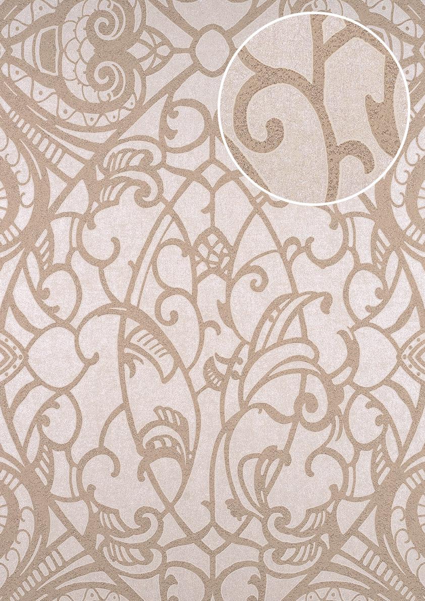 Barock Tapete Atlas Cla 597 6 Vliestapete Geprägt Mit Grafischem