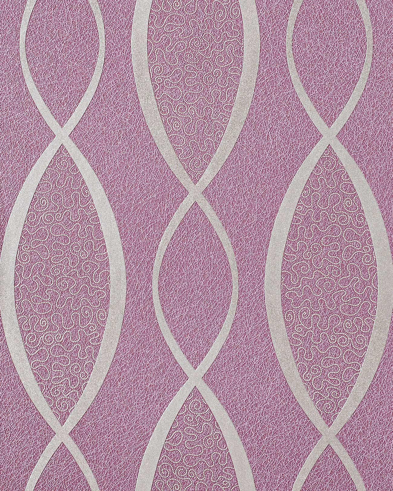 Retro tapete edem 1018 14 retrotapete geschwungene linien for Tapete violett