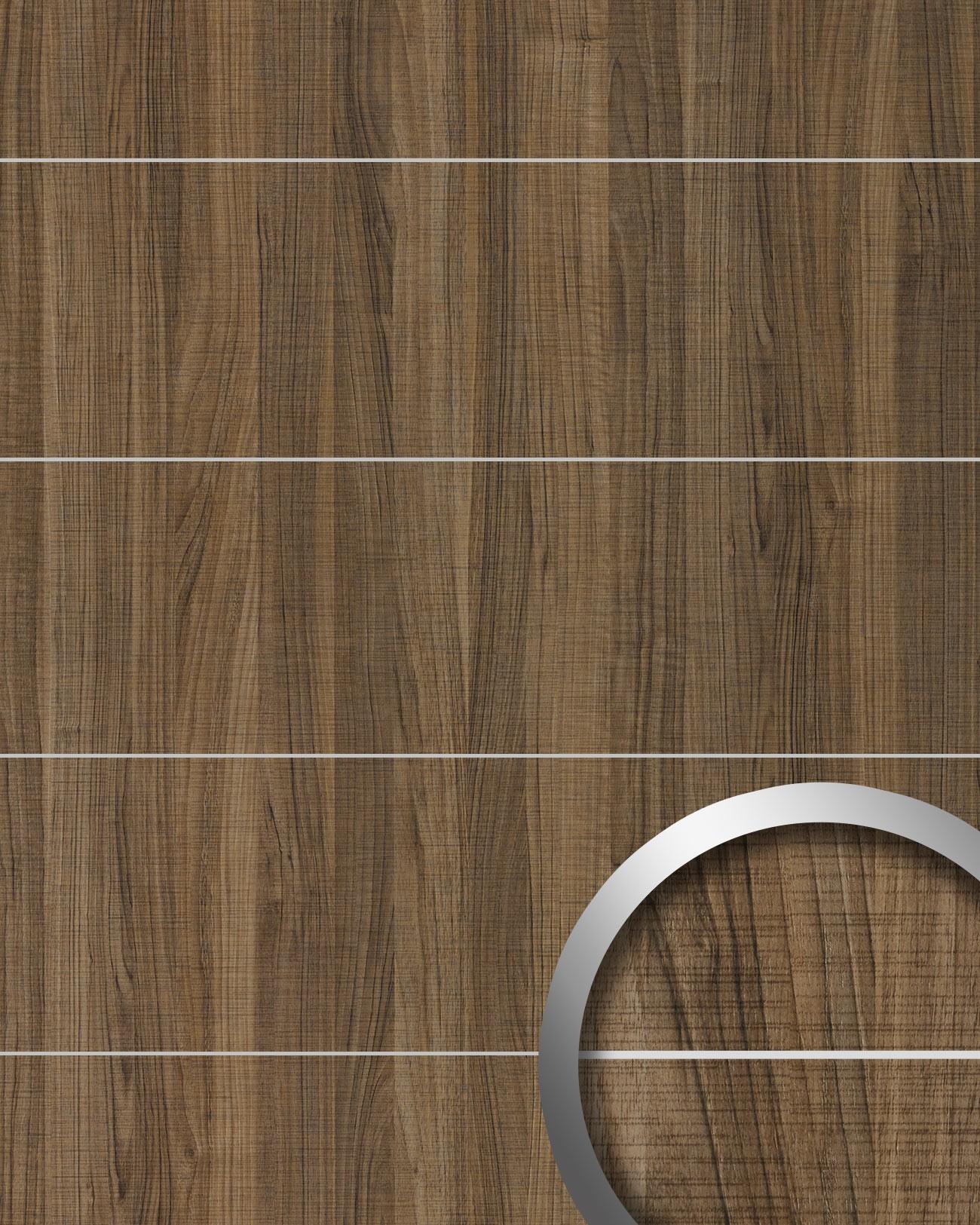wandverkleidung holz optik wallface 19100 nutwood country 8l nussbaum dekor metall lisenen. Black Bedroom Furniture Sets. Home Design Ideas