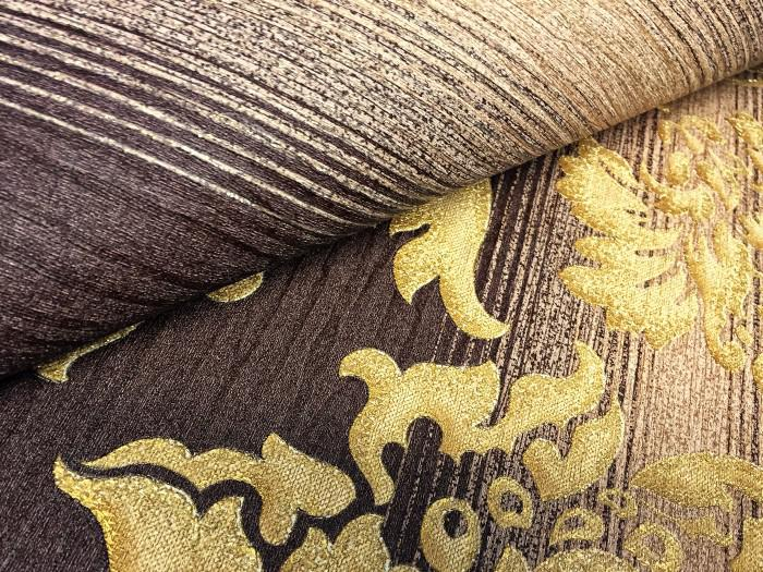 ... Streifen Tapete XXL Vliestapete EDEM 931 36 Heißgepägte Elegante  Blockstreifen Luxus Design Tapete Braun Beige ...