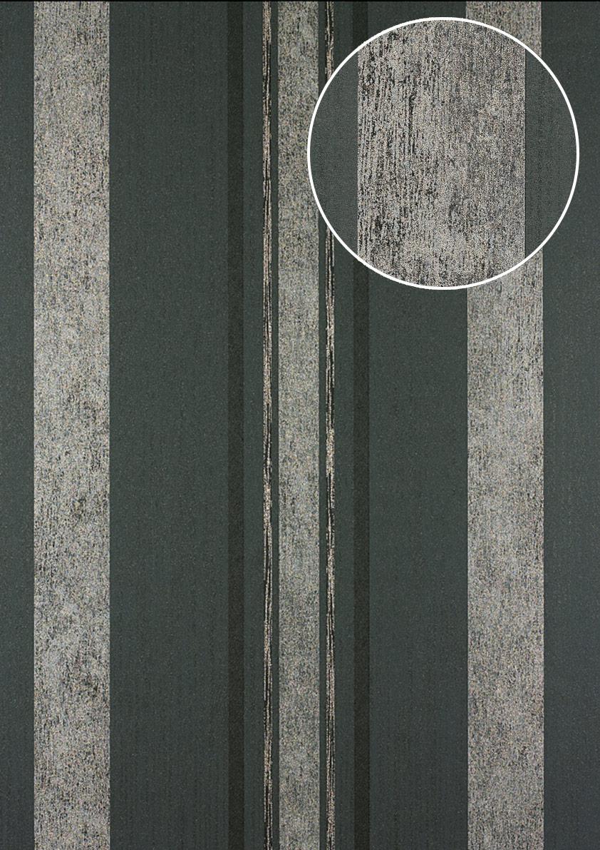 Streifen Tapete Atlas 24c 5059 1 Vliestapete Glatt Mit Grafischem