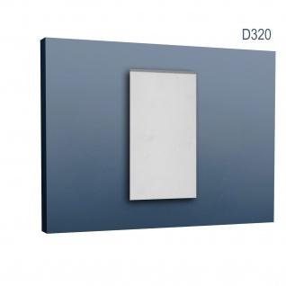 Türumrandung Stuck Orac Decor D320 LUXXUS Sockel Zierelement Profil Wand Dekor Element robust und stoßfest | 25 cm hoch