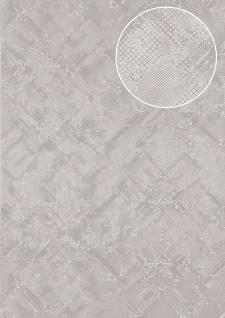 Grafik Tapete Atlas SIG-085-4 Vliestapete strukturiert mit abstraktem Muster schimmernd silber weiß-aluminium rein-weiß licht-grau 5, 33 m2
