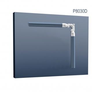 Wandleiste Stuck Orac Decor P8030D LUXXUS Eckelement Zierleiste für Friesleiste Rahmen Spiegel Profil Wand Dekor Element