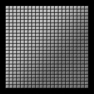Mosaik Fliese massiv Metall Edelstahl marine gebürstet in gau 1, 6mm stark ALLOY Glomesh-S-S-MB 1, 07 m2 - Vorschau 3