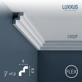 Stuck Zierleiste Orac Decor C602F LUXXUS flexible Leiste Eckleiste leiste Dekorleiste Gesims Profilleiste | 2 Meter