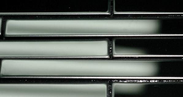 Mosaik Fliese massiv Metall Edelstahl hochglänzend in grau 1, 6mm stark ALLOY Deedee-S-S-M 0, 63 m2 - Vorschau 4