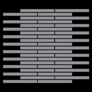 Mosaik Fliese massiv Metall Edelstahl matt in grau 1, 6mm stark ALLOY Avenue-S-S-MA 0, 74 m2 - Vorschau 3