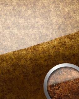 Wandverkleidung abriebfest selbstklebend WallFace 17200 VINTAGE Wandpaneel Glas-Optik Luxus Dekor kupfer braun | 2, 60 qm