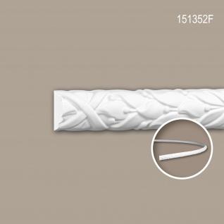 Wand- und Friesleiste PROFHOME 151352F Stuckleiste Flexible Leiste Zierleiste Rokoko Barock Stil weiß 2 m