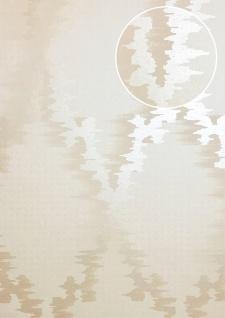 Grafik Tapete ATLAS XPL-589-3 Vliestapete glatt Ton-in-Ton schimmernd creme creme-weiß beige hell-elfenbein 5, 33 m2