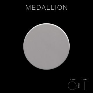 Mosaik Fliese massiv Metall Edelstahl matt in grau 1, 6mm stark ALLOY Medallion-S-S-MA 0, 73 m2 - Vorschau 2