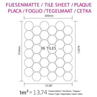 Mosaik Fliese massiv Metall Edelstahl marine gebürstet in grau 1, 6mm stark ALLOY Dome-S-S-MB 0, 73 m2 - Vorschau 4