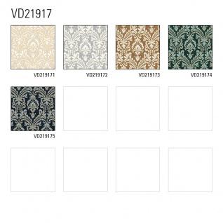 Barock Tapete Profhome VD219172-DI heißgeprägte Vliestapete geprägt im Barock-Stil schimmernd silber grau weiß 5, 33 m2 - Vorschau 3