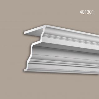 Eckleiste 401301 Profhome Fassadenprofil Zierleiste Stuckleiste Zeitloses Klassisches Design weiß 2 m
