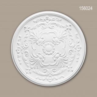Rosette PROFHOME 156024 Zierelement Deckenelement Neo-Empire-Stil weiß Ø 49, 6 cm