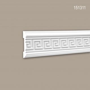 Wand- und Friesleiste PROFHOME 151311 Stuckleiste Zierleiste Wandleiste Zeitloses Klassisches Design weiß 2 m