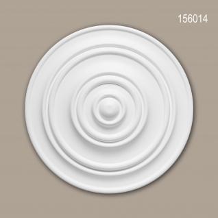 Rosette PROFHOME 156014 Zierelement Deckenelement Zeitloses Klassisches Design weiß Ø 34, 0 cm
