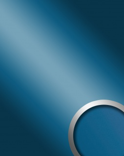 Wandverkleidung Platte selbstklebend blau WallFace 10219 DECO SKYBLUE Wandpaneel Spiegel Design Glanz-Optik | 2, 60 qm