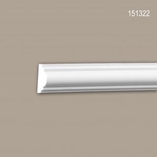 Wand- und Friesleiste PROFHOME 151322 Stuckleiste Zierleiste Wandleiste Neo-Klassizismus-Stil weiß 2 m