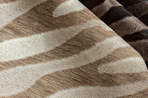 Tiermotiv Tapete Atlas SKI-5069-2 Vliestapete geprägt mit Zebramuster schimmernd beige grau-beige reh-braun blass-braun 7, 035 m2 - Vorschau 3