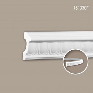 Wand- und Friesleiste PROFHOME 151330F Stuckleiste Flexible Leiste Zierleiste Zeitloses Klassisches Design weiß 2 m