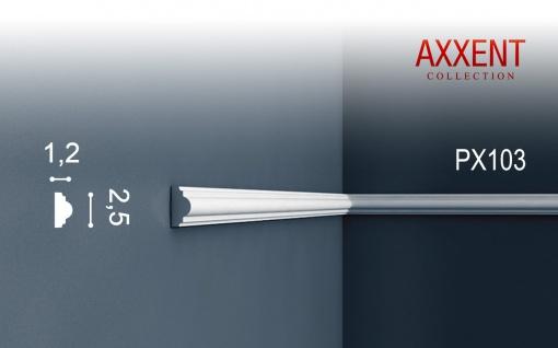 Orac Decor PX103 AXXENT 1 Karton SET mit 49 Wandleisten Zierleisten   98 m - Vorschau 2
