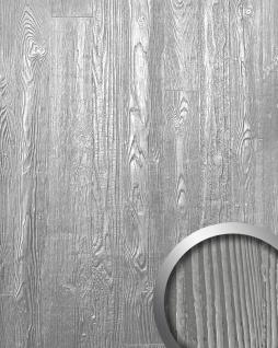 Wandpaneel Holz Optik WallFace 14808 WOOD Design Shop Blickfang Dekor Platte selbstklebende Tapete metall-grau weiß | 2, 60 qm