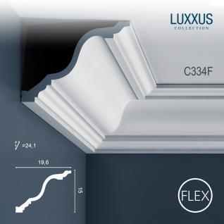 Dekor Profil Orac Decor C334F LUXXUS flexible Leiste Eckleiste Zierleiste Deckenleiste Stuckgesims Wand Dekor Leiste | 2 Meter