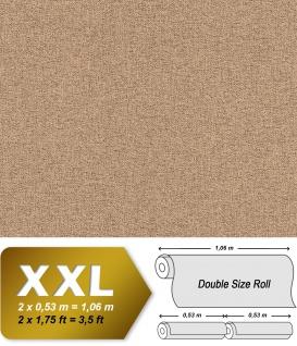 Textiloptik Tapete EDEM 9163-04 heißgeprägte Vliestapete geprägt mit Struktur schimmernd braun 10, 65 m2