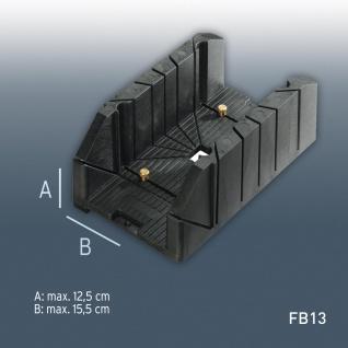 Gehrungslade Orac Decor Zubehör FB13 mit vielen Winkeln max Verarbeitungsgröße: H12, 5 cm x B15, 5 cm | robustes Hart PVC - Vorschau
