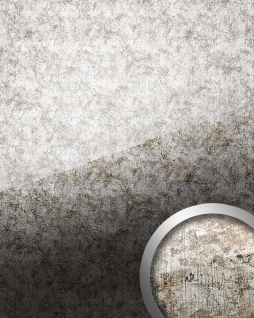 Wandverkleidung abriebfest selbstklebend WallFace 17199 VINTAGE Wandpaneel Glas-Optik Luxus Dekor silber grau   2, 60 qm