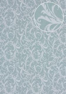 Barock Tapete Atlas PRI-523-1 Vliestapete glatt mit floralen Ornamenten matt grau zement-grau licht-grau achat-grau 5, 33 m2