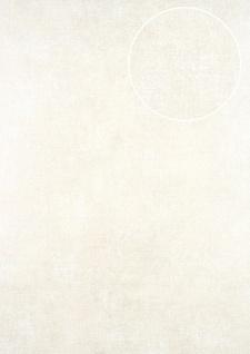 Uni Tapete ATLAS CLA-598-1 Vliestapete glatt im Used Look schimmernd weiß perl-weiß 5, 33 m2
