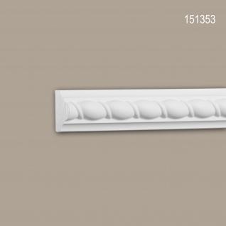 Wand- und Friesleiste PROFHOME 151353 Stuckleiste Zierleiste Wandleiste Neo-Empire-Stil weiß 2 m